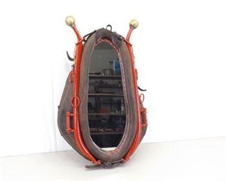 VERY NICE Large Horse Hame Mirror
