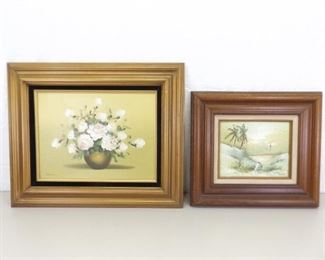 2 Wood Framed Oil Paintings