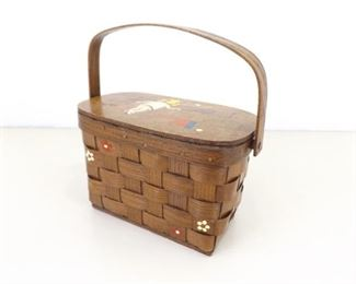 Vintage Designer Signed Basket Purse
