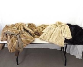Lot of 6 Vintage Women's Fur Coats