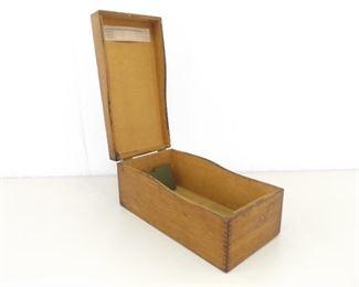 Antique Wood Weis Card Catalogue Box