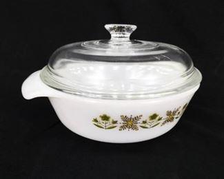 Vintage MINT Fire King 1 QT Covered Casserole Dish
