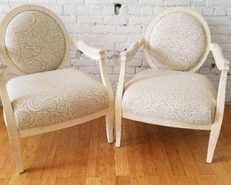 Gorgeous Gabberts Cream Bergere Armchairs