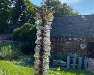 Unique Glass Bottle Palm Tree