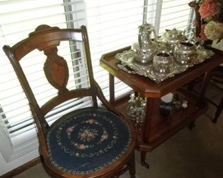 VINTAGE NEEDLEPOINT CHAIRS