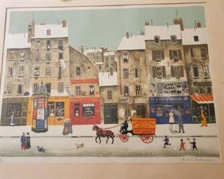 Artist: Michael Delacroix, Rue sous la Neige, signed and numbered. No appraisal certificate
