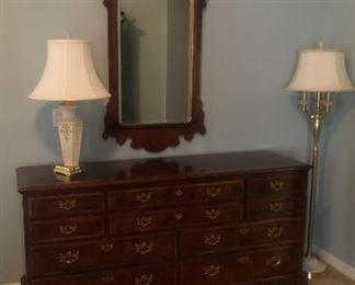 Henredon Dresser and Mirror
