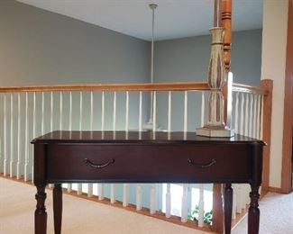 Lovely wood accent console table