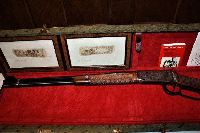 A Giovanelli Engraved Winchester Model 94. Commemorative Lever-Action Carbine 30-30