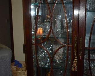 Beautiful large china cabinet with sliding center door and lighting