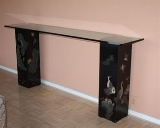 Asian Black Lacquer table/stand - $475