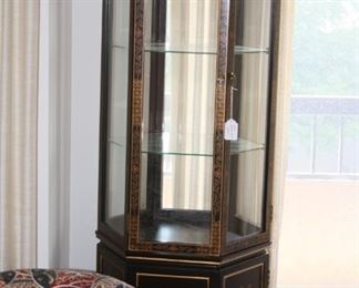 Asian Black Lacquer Display case - $350