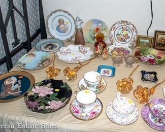Tables of Ceramics - Porcelain Glassware