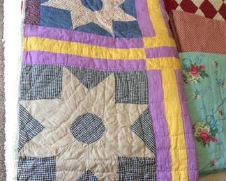 Vintage Hand Sewn Quilt