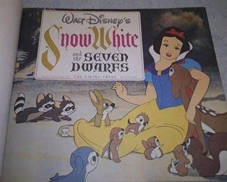Snow White & The 7 Dwarfs 1978. Hardback 225 pages of Disney Magic