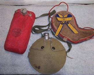 Vintage Scouting Pins & Water Containers