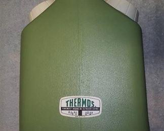 Vintage Thermos Double Header Super Jug & Dixie Cups