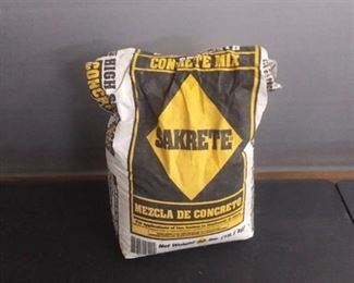Sakrete Concrete Mix Partially Used Open Bag