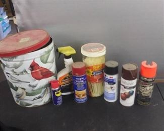 Misc. Car ,Household Products (All Partially Used) And Zip Ties