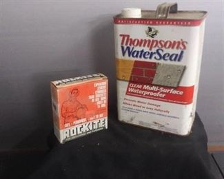 Thompson's Water Seal , Rockite For Anchoring And Patching