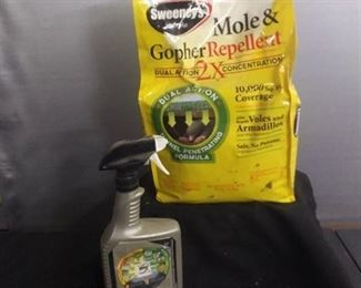 Sweeny Mole And Gopher Repellent And Round Up Partial Bottle