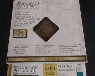 12 in. x 12in. Prestige Vinyl Tiles 12 Total