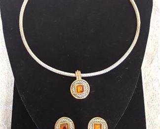 JOAH Necklace & Clip Earrings