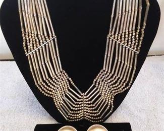 Necklace & Clip Earrings