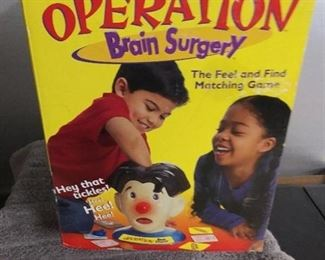 Games - 2001 Operation Brain Surgery with All Pieces/ M&M Tin & Vintage Board Games without Pieces