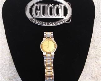 Gucci Watch (not working) & Belt Buckle
