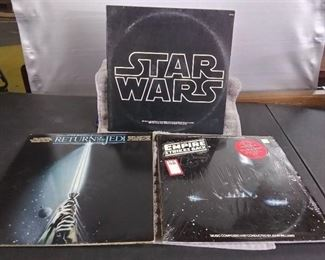 Vinyl Albums - 3 Star Wars Soundtracks with Return of the Jedi & The Empire Strikes Back