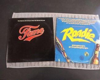 Vinyl Albums - 2 Soundtracks with Fame & Roadie