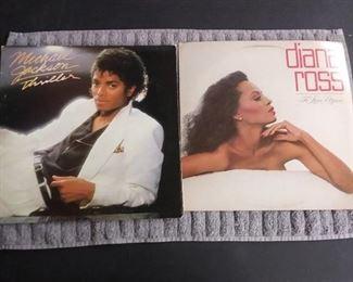 Vinyl Albums - Michael Jackson's Thriller & Diana Ross To Love Again