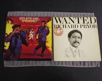 Vinyl Albums - Kool & The Gang Emergency and Wanted Richard Pryor