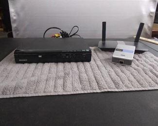 Magnavox DVD Player & Linksys WiFi System