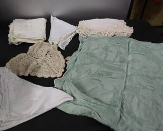 Vintage Square Table Cloth/ Dollies/ Handkerchiefs & Other