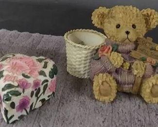 Lamp / Candy Dish & Bear