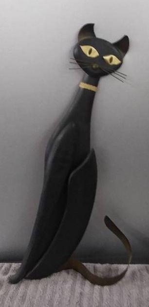 Large Chic Decorative Black Cat