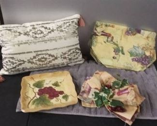 Chair Pillow And Kitchen Table Decor
