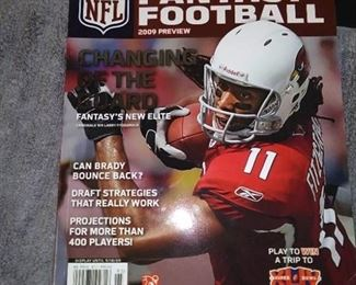 Books - 2 Scholastic Sport Books with Jeremy Lin Rising Star & 2015 Superstars & 1 NFL Fantasy Football 2009 Preview Magazine