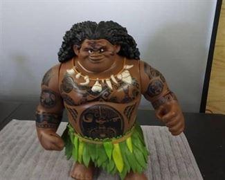 Large Disney Maui Talking Doll from Moana - Operational
