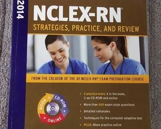 Books - 3 RN 2013-14 NCLEX & 2015-16 NCLEX Strategies, Practice & Review & NCLEX-RN Exam Cram Fourth Edition