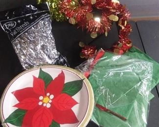 Christmas Decorations And Festive Paper Plates