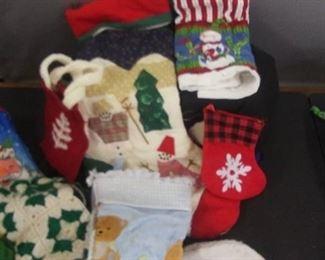 Variety Of Christmas Stockings