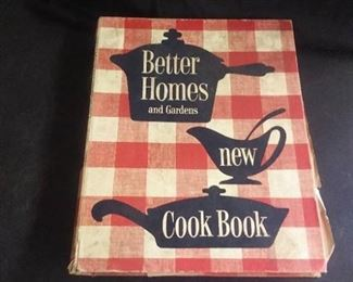 Better Homes Cook Book ,Glass Vase , Cow Bell Other Misc. Items