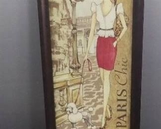 Vintage Top Cigarette Roller and Photo Of Paris Chic
