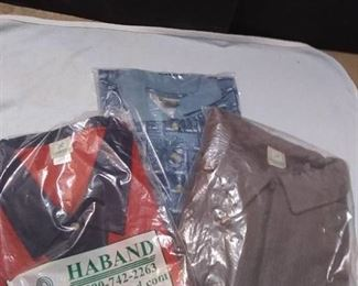 3 New Mens Shirts Size 3X Haband 2 in Unopened Bags