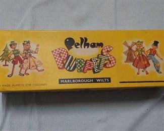 Vintage Like New Pelham Hand Made Puppets for Children Marlborough Wilts in Original Box - Girl