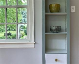 """Item 283:  (2) Tall Shelves with Drawers - 18""""l x 14""""w x 60""""h: $165 ea"""