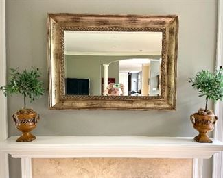 "Item 463:  Decorative Gold Mirror - 45.5"" x 33.5"":  $285"